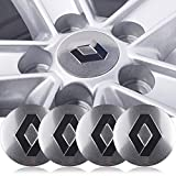 wangjianbin 4 Pcs 56mm Car Styling Car Tire Wheel Hub Hub Cap Decal Badge Sticker Accesorios para Renault Megane 2 3 Duster Logan Clio Laguna 2 Captur