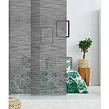 MADECOSTORE Panel japonés opaco lino brillante – negro – 50 x 250 cm
