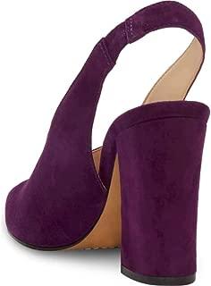 Vince Camuto Womens Tashinta Leather Pointed Toe Slingback, Purple, Size 8.5