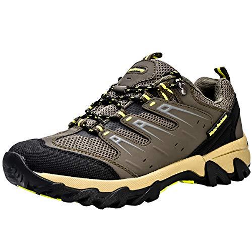 Zapatos de Senderismo Mujeres Calzado Deportivo de Exterior de Hombre Antideslizante Transpirable Zapatillas Casual Calzado de Acampada y Marcha Verde EU 41 ✅