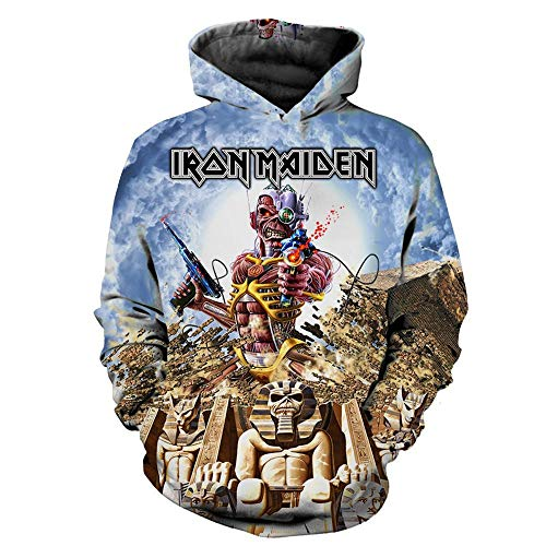 Sudaderas con Capucha,Iron Maiden Estampado En 3D Heavy Metal Rock, Gran Sudadera...