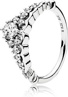 Fairytale Tiara Ring, Clear CZ 196226CZ-56 EU 7.5 US