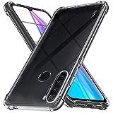 Ferilinso Funda para Xiaomi Redmi Note 8T [Transparente TPU Silicona Carcasa] [10X Anti-Amarilleo] [Compatible con la Cristal Templado Protector de Pantalla][Anti-arañazos] (Transparente)