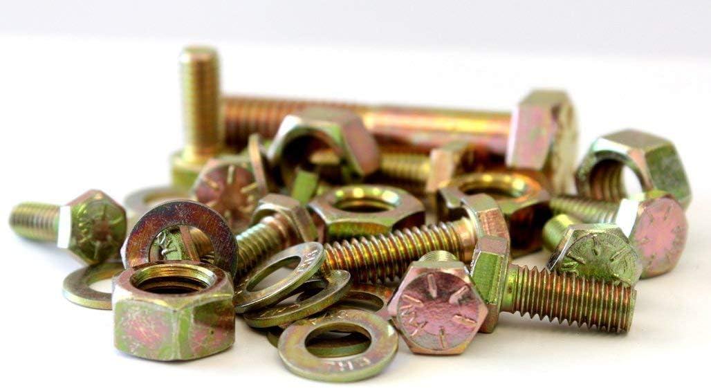 Max 79% OFF High order 8477 Piece Grade 8 COARSE Thread Yellow Bolt ZINC ONLY Hardware