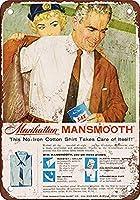 Mansmooth No-Iron Shirts 金属板ブリキ看板警告サイン注意サイン表示パネル情報サイン金属安全サイン