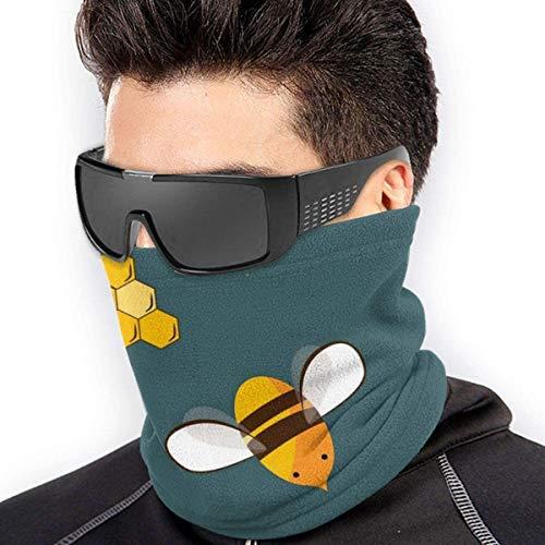 YJWLO Leuke Vliegende Bijen en Honing Ademende Winddichte Nek Warmer Anti-Stofsporen Mond Gezicht Cover Nek Gaiter Voor Outdoor