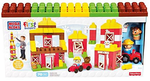 Mattel Mega Bloks First Builders CNG27 - Freundliche Farm, Bau- und Konstruktionsspielzeug
