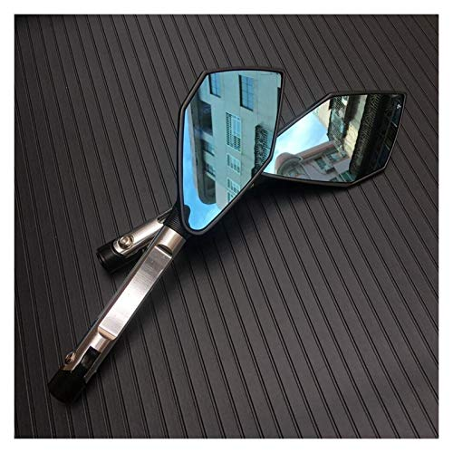 Moto Espejos Motocicleta Motocicleta Gran espejo retrovisor espejo plegable lateral CNC Ajuste de aluminio Compatible con Kawasaki Compatible con Honda Compatible con Suzuki Compatible con Yamaha Comp