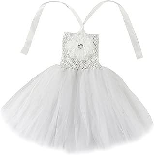 Baby Girls Tutu Dress Crochet Tube Top Baby Pettiskirt with Match Flower