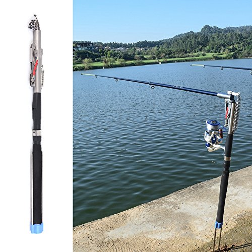 Lixada 2.1m / 2.4m / 2.7m / 3.0m Automatic Fishing Rod Adjustable Telescopic Rod Pole Device Sea River Lake Pool Fishing Tackle with Bank Stick