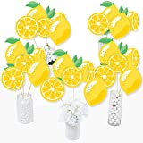 So Fresh - Lemon - Citrus Lemonade Party Centerpiece Sticks - Table Toppers - Set of 15...