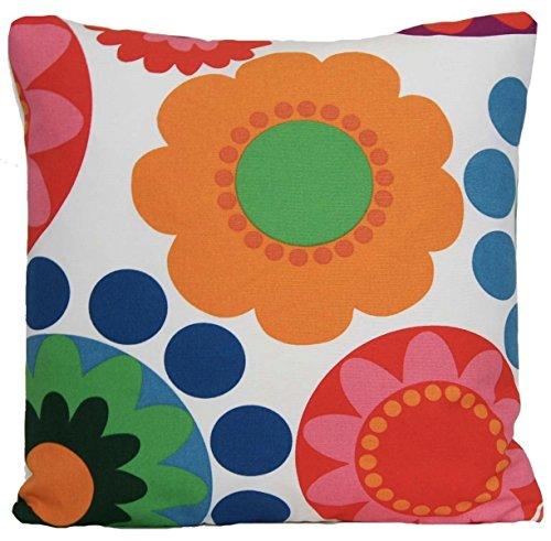 Rojo y naranja Diseño de flores Retro de flores funda para cojín de Ikea manta funda almohada decorativo diseño escandinavo