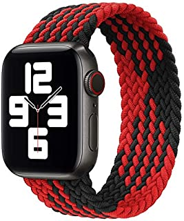 D'VOGUE Braided Solo Loop Sports Bands Compatible for Apple Watch, Stretchy Sports Unisex Wristband with no Clasps or Buck...