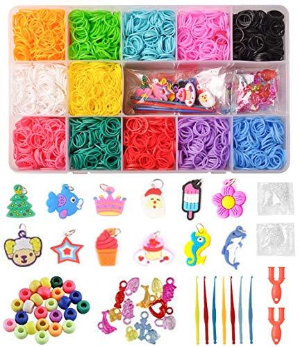 DEWEL 6000 DIY Gummibänder Loom Bänder Box Aufbewahrungsbox Armband Halskette Strickwerkzeug Kinderspielzeug
