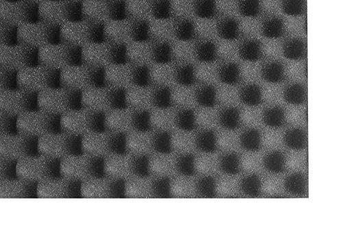 SCHAUMEX ® Noppenschaumstoff 50x30x5cm - Akustik Schaumstoff, Akustikschaumstoff, Dämmung für Tonstudio, Youtube room, In Deutschland hergestellt - 3