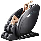 OOTORI Massage Chair,Full Body Zero Gravity Shiatsu Recliner with 3D SL-Track Yoga Stretching Bluetooth and Heat (Black)