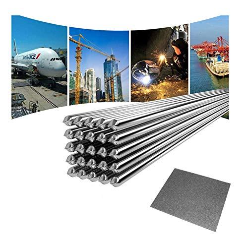 Alambre de Soldadura de Aluminio a BajaTemperatura, Varilla de Soldadura Duradera de Al para Reparación No Necesita Polvo de Soldadura - 10 PCS 2.0MM 50CM