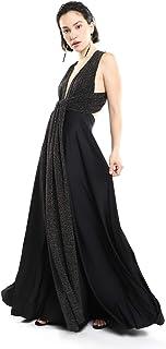 LOB Vestido Maxi Negro Vestido para Mujer