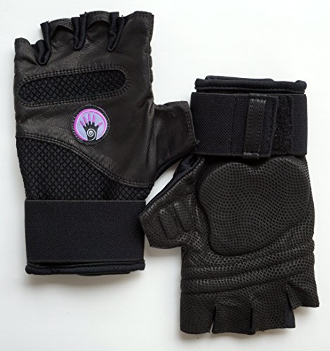 Wrist Assured Gloves Fusion Style - Gel Padded Gloves, Workout Gloves with Wrist Support, Yoga Gloves, Strength Training Gloves (Medium)