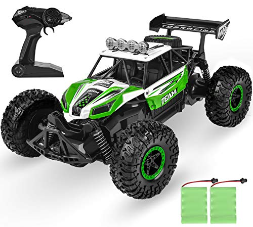 Remote Control Car RC Cars Grade 1:14 Scale Hobby,High-Speed Off-Road Remote Control Vehicle with 2 Rechargeable Batteries,Gifts Toys for Kids Girl Boys