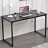 bakaji scrivania tavolo da lavoro porta pc computer piano in legno mdf con struttura in metallo arredamento casa ufficio cameretta design moderno industriale dimensione 120 x 60 x h74 cm (nero)
