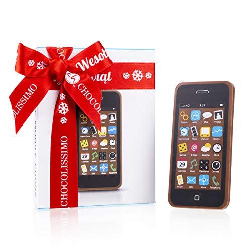 Schokoladenhandy - Schokoladen Handy - Smartphone aus Schokolade | Geschenk | Als Gag ganz witzig | Weihnachtsschokolade | Geschenkidee | Weihnachten | Weihnachtsgeschenk | Kinder | Erwachsene