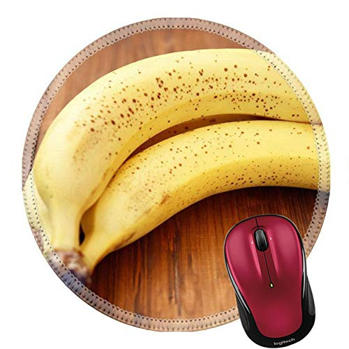 Rundes Mauspad Naturkautschuk Mousepads Bündel Reifer Frischer Bananen Auf Einem Hölzernen Hintergrund 20Cm