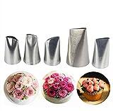 Joyeee 5 teiliges Spritztüllen Kuchen Einrichtung Set - Küchen Einrichtungstipps, Hochwertigem Edelstahl Sahnehäubchen Rohrleitungen Düsen Gebäck Tipps