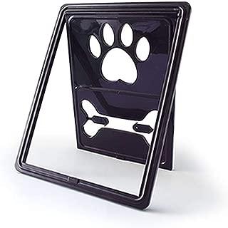 ZZXPET Convenient Lockable Dog Door, for Screen Window Flap Gates Pet Cat Door Dog Fence Access Door for Home, Easy Install Large Pet Door,Black