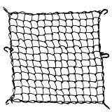 [Jiayihizn] ツーリングネット カーゴネット バイクネット 荷物落下防止フック付き ブラック 60cm*60cm(3Lサイズ) 80L