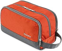 Travel Toiletry Bag Nylon, Gonex Dopp Kit Shaving Bag Toiletry Organizer Orange