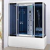 Bagno Italia Box idromassaggio cabina doccia e vasca 6 getti cm 150x85 cromoterapia ozonoterapia bluetooth