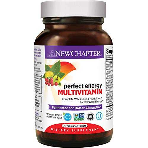 New Chapter Energy Supplement - Perfect Energy Multivitamin for Balanced Energy + Stress Support with B Vitamins + Vitamin D3 + Organic Non-GMO Ingredients - 36 Ct (Packaging May Vary)