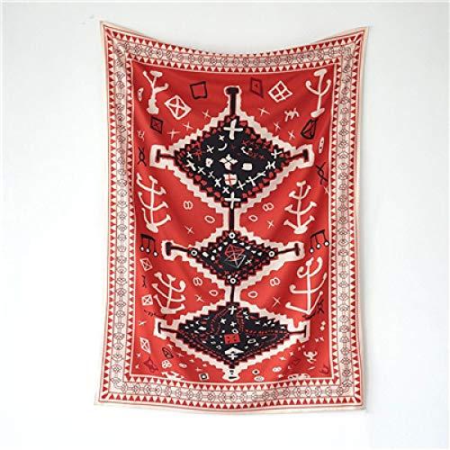 dingtian Tapiz Bohemian Tapestry Wall Hanging Totem Art Psychedelic Tapestry Wall Fabric Carpet Blanket Boho Decor Home Headboard 148cmx200cm Red