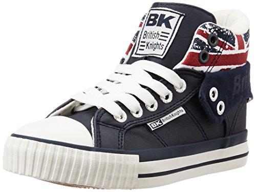 British Knights Unisex-Kinder Roco Basketball hoch, Bleu (Navy/Union Jack), 32 EU