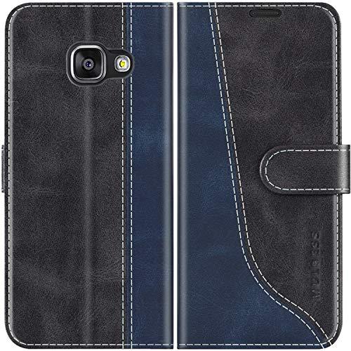 Mulbess Custodia per Samsung A3 2016, Cover Samsung A3 2016 Libro, Custodia Samsung Galaxy A3 2016 Pelle, Flip Cover per Samsung Galaxy A3 2016 Portafoglio, Nero