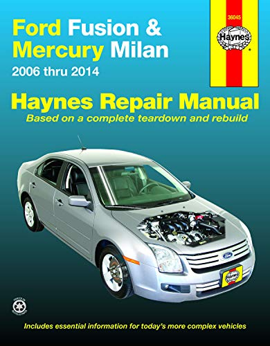Ford Fusion & Mercury Milan (06-14) Haynes Repair Manual (Does not include information specific to hybrid models. Includes thorough vehicle coverage apart from the specific exclusion noted)