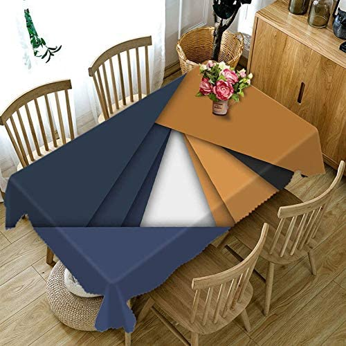 Table Cloths Polyester Cotton 5 ☆ very popular Discount mail order 3D Stripes White Black Tablecloth
