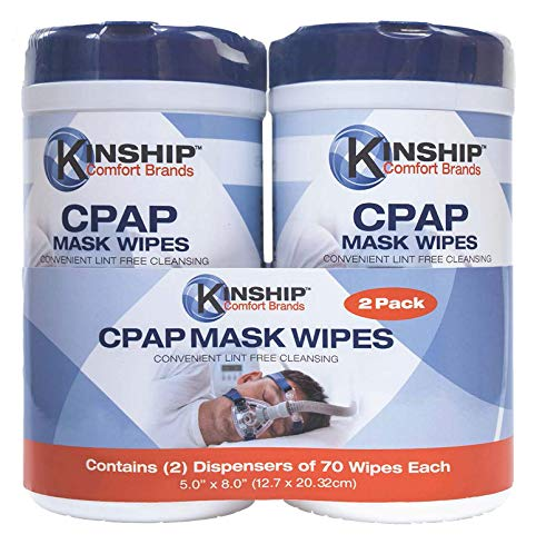 CPAP mask Cleaning Wipes (140 Count, 2-70 Count canisters) unscented, lint-Free Cleaning. Easy Opening top.