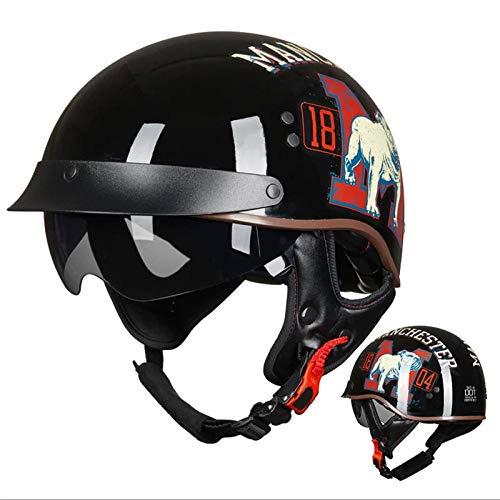 Casco de bicicleta eléctrica Casco de motocicleta Medio casco de coche con...
