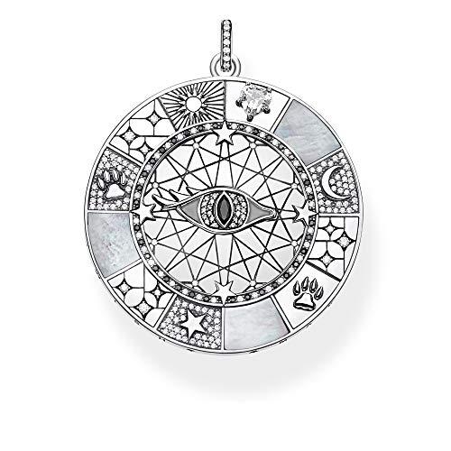 THOMAS SABO Damen Anhänger Amulett mystische Symbole 925 Sterlingsilber, Geschwärzt PE854-642-18