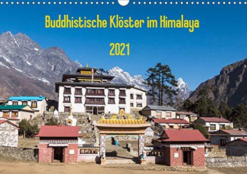 Buddhistische Klöster im Himalaya (Wandkalender 2021 DIN A3 quer)