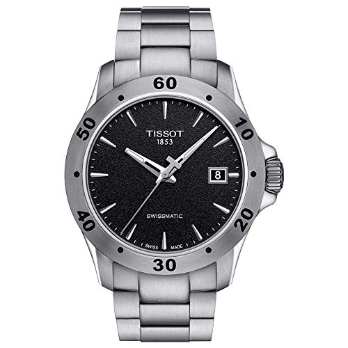 Tissot mens V8 Gent Auto Stainless Steel Casual Watch Grey T1064071105100