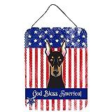 Caroline 's Treasures bb2175ds1216Gott segne American Flagge mit Rottweiler, Wand oder Tür Aufhängen Prints bb2175ds1216, Multicolor, 16hx12W