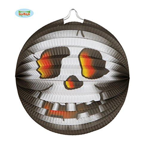 NET TOYS Halloween Lampion Papierlaterne Totenkopf 26 cm Horror Deko Papierlampions Laterne Gruseldeko