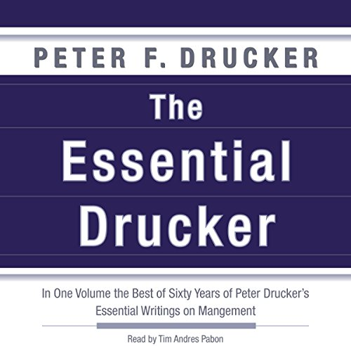 The Essential Drucker  By  cover art