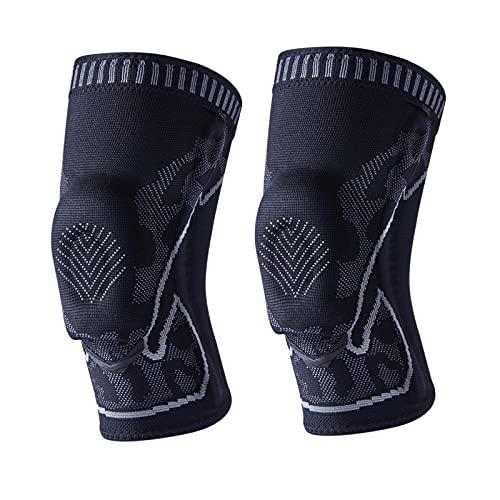 QINX Par de rodilleras deportivas 3D para artritis, fitness, voleibol, fitness y protección de huesos de bicicleta, talla L
