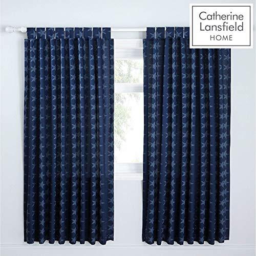 cortinas rojas y azules
