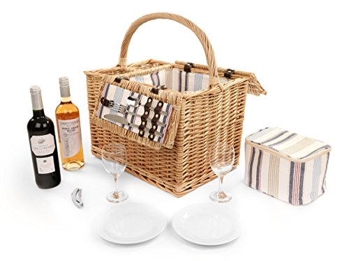 Greenfield Collection Arundel Willow Picnic Hamper for Two People