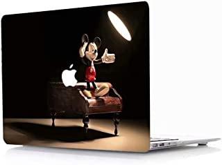 MacBook Air Case, AQYLQ Creative Pattern Rubber Coated Plastic Protective Cover Hard Case for Apple Laptop MacBook Air 13 inch Model A1369 / A1466 - Disney Mickey